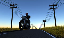 Motorcyclist Royalty Free Stock Images