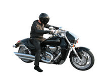 The motorcyclist Stock Photos