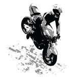 The motorcyclist Royalty Free Stock Photos