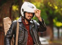 motorcyclist Royaltyfri Foto