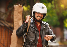 motorcyclist Fotografie Stock