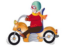Motorcyclist. Cartoon illustration of a motorcyclist Royalty Free Stock Photo