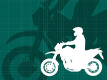 Motorcyclist  on the abstract background Stock Photos