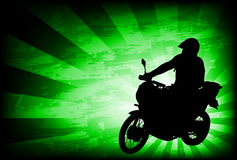 Motorcyclist on the abstract background Royalty Free Stock Images