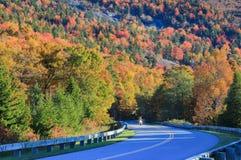 Motorcyclist Blue Ridge Parkway Autumn Royalty Free Stock Photography