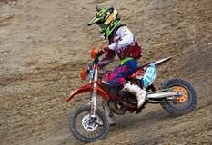 Motorcyclist on dirt bike, Enduro Royalty Free Stock Photo