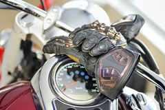 Motorcyclist gloves Stock Images