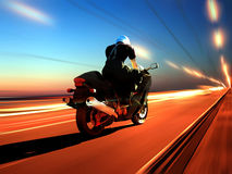 The Motorcyclist Royalty Free Stock Image