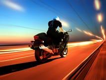 The Motorcyclist stock illustration