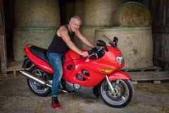 Motorcyclist royalty free stock photos