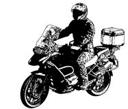Motorcyclist illustration - vector Royalty Free Stock Photo