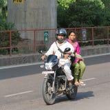 Motorcyclist in India Stock Photos