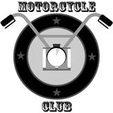 Motorcyclist logo Royalty Free Stock Images