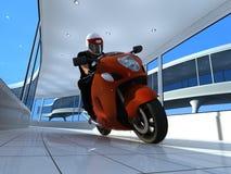 The  motorcyclist. Stock Photos