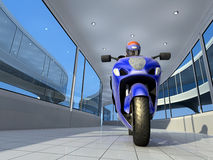 The  motorcyclist. Stock Image