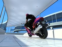The  motorcyclist. Stock Photo