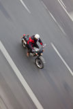 Motorcyclist in motion Royalty Free Stock Photography