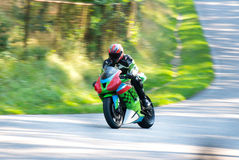 Motorcyclist in motion Stock Photos