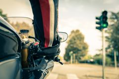 Free Motorcyclist On The Road Royalty Free Stock Images - 47138889