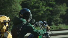 Motorcyclist on the Open Road stock video
