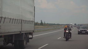 Motorcyclist on the Open Road stock video footage