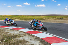 Motorcyclist Racing Stock Photos