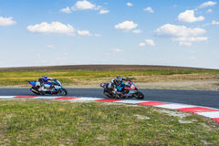 Motorcyclist Racing Stock Image