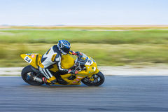 Motorcyclist Racing Stock Photo