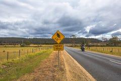 Motorcyclist Warning Sign Royalty Free Stock Photos