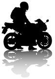 Motorcyclist on sport Stock Images