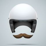 Motorcyclist symbol with mustache Royalty Free Stock Image