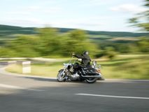 Motorcyclist, taken with motion blur 3 stock image
