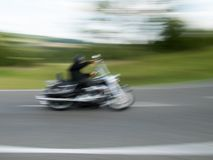 Motorcyclist, taken with motion blur 1 royalty free stock image