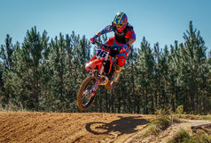 Motocross Dirtbike Action Scene Royalty Free Stock Photos