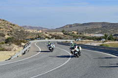 motorcyclists Fotografie Stock Libere da Diritti