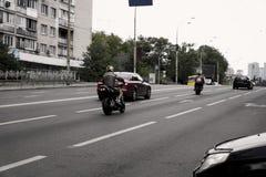 motorcyclists Fotografie Stock