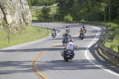 Motorcyclists driving the highways Royalty Free Stock Photography