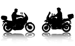 Motorcyclists silhouettes - vector Royalty Free Stock Images