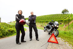 Motorcyclists on tour Stock Photos