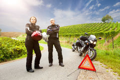 Motorcyclists on tour Royalty Free Stock Photos