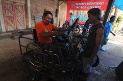 Motorcykeländring för folk med handikapp Royaltyfri Bild
