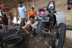 Motorcykeländring för folk med handikapp Fotografering för Bildbyråer