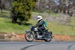 1951 motorcykel för Triumph tiger 100 Fotografering för Bildbyråer
