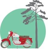 Motorcykel java Arkivfoto