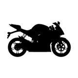 Motorcykel kontursportcykel stock illustrationer