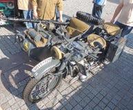 Motorcykel- och sidecarkombination BMW R75 av WWII Fotografering för Bildbyråer