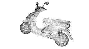 Motorcykel på en bakgrund Royaltyfria Foton