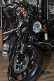 Motorcykel på skärm Royaltyfria Bilder