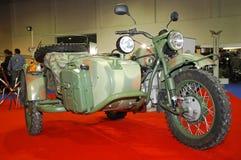 motorcykel ural russia Arkivfoton