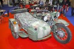 motorcykel ural russia Arkivbilder